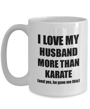 Load image into Gallery viewer, Karate Wife Mug Funny Valentine Gift Idea For My Spouse Lover From Husband Coffee Tea Cup-Coffee Mug