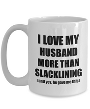 Load image into Gallery viewer, Slacklining Wife Mug Funny Valentine Gift Idea For My Spouse Lover From Husband Coffee Tea Cup-Coffee Mug