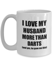 Load image into Gallery viewer, Darts Wife Mug Funny Valentine Gift Idea For My Spouse Lover From Husband Coffee Tea Cup-Coffee Mug