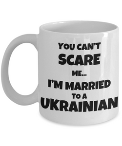 Ukrainian Husband Wife Mug Funny Ukraine Couple Gift For My Lover Present Married Coffee Tea Cup-Coffee Mug