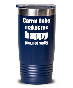 Carrot Cake Cocktail Tumbler Lover Fan Funny Gift Idea For Friend Alcohol Mixed Drink Coffee Tea Insulated Cup With Lid-Tumbler