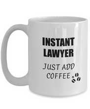 Load image into Gallery viewer, Lawyer Mug Instant Just Add Coffee Funny Gift Idea for Corworker Present Workplace Joke Office Tea Cup-Coffee Mug