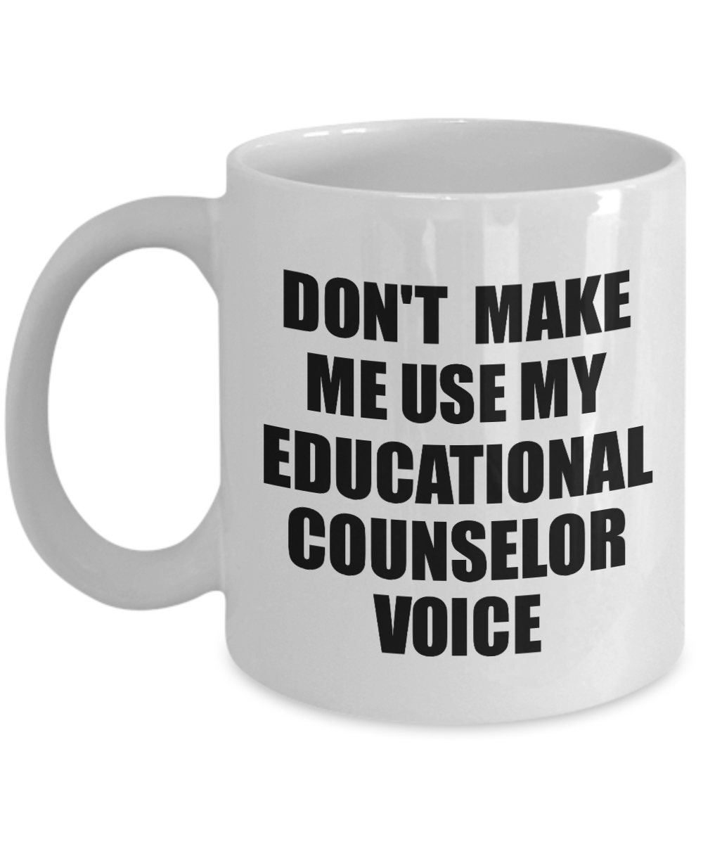 Educational Counselor Mug Coworker Gift Idea Funny Gag For Job Coffee Tea Cup Voice-Coffee Mug
