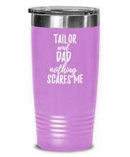 Load image into Gallery viewer, Funny Tailor Dad Tumbler Gift Idea for Father Gag Joke Nothing Scares Me Coffee Tea Insulated Cup With Lid-Tumbler