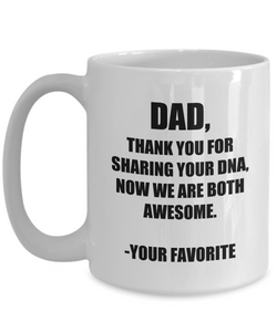 Dad Dna Mug From Daughter Son Funny Gift Idea for Novelty Gag Coffee Tea Cup-Coffee Mug