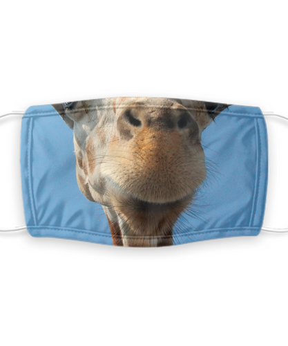 Giraffe Face Mask Funny Snout Animal Lover Gift Mouth Nose Cover Gag Reusable Washable-Mask