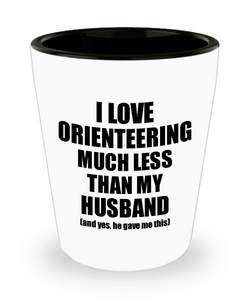 Orienteering Wife Shot Glass Funny Valentine Gift Idea For My Spouse From Husband I Love Liquor Lover Alcohol 1.5 oz Shotglass-Shot Glass