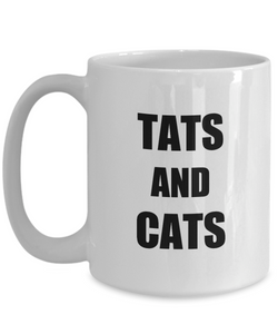 Tats And Cats Mug Tattoos Lover Funny Gift Idea for Novelty Gag Coffee Tea Cup-[style]