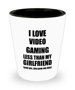 Video Gaming Boyfriend Shot Glass Funny Valentine Gift Idea For My Bf From Girlfriend I Love Liquor Lover Alcohol 1.5 oz Shotglass-Shot Glass