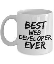Load image into Gallery viewer, Web Developer Mug Best IT Nerd Geek Ever Funny Gift for Coworkers Novelty Gag Coffee Tea Cup-Coffee Mug