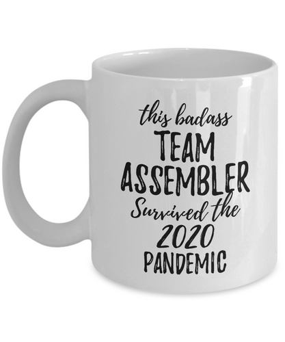 This Badass Team Assembler Survived The 2020 Pandemic Mug Funny Coworker Gift Epidemic Worker Gag Coffee Tea Cup-Coffee Mug