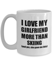 Load image into Gallery viewer, Skiing Boyfriend Mug Funny Valentine Gift Idea For My Bf Lover From Girlfriend Coffee Tea Cup-Coffee Mug