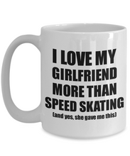 Load image into Gallery viewer, Speed Skating Boyfriend Mug Funny Valentine Gift Idea For My Bf Lover From Girlfriend Coffee Tea Cup-Coffee Mug