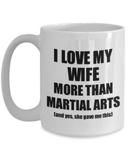 Load image into Gallery viewer, Martial Arts Husband Mug Funny Valentine Gift Idea For My Hubby Lover From Wife Coffee Tea Cup-Coffee Mug