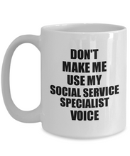 Load image into Gallery viewer, Social Service Specialist Mug Coworker Gift Idea Funny Gag For Job Coffee Tea Cup Voice-Coffee Mug