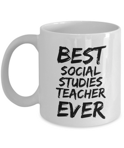 Social Studies Teacher Mug Best Ever Funny Gift Idea for Novelty Gag Coffee Tea Cup-[style]