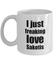 Load image into Gallery viewer, Sakotis Lover Mug I Just Freaking Love Funny Gift Idea For Foodie Coffee Tea Cup-Coffee Mug