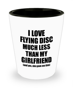 Flying Disc Boyfriend Shot Glass Funny Valentine Gift Idea For My Bf From Girlfriend I Love Liquor Lover Alcohol 1.5 oz Shotglass-Shot Glass