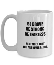 Load image into Gallery viewer, Dad Mug Verse Brave Strong Fearless Inspirational Quote Mom Funny Gift Idea for Novelty Gag Coffee Tea Cup-Coffee Mug