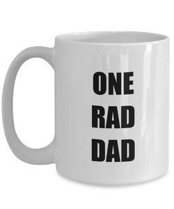One Rad Dad Mug Funny Gift Idea for Novelty Gag Coffee Tea Cup-[style]