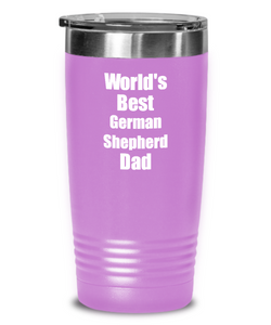 German Shepherd Dad Tumbler Worlds Best Dog Lover Funny Gift For Pet Owner Coffee Tea Insulated Cup With Lid-Tumbler