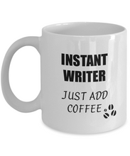 Load image into Gallery viewer, Writer Mug Instant Just Add Coffee Funny Gift Idea for Corworker Present Workplace Joke Office Tea Cup-Coffee Mug