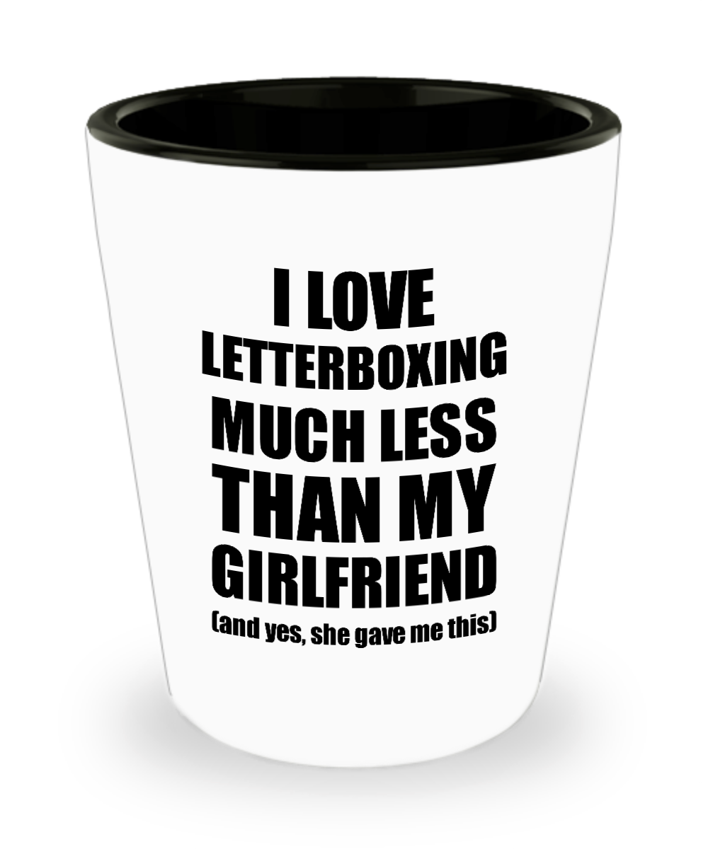 Letterboxing Boyfriend Shot Glass Funny Valentine Gift Idea For My Bf From Girlfriend I Love Liquor Lover Alcohol 1.5 oz Shotglass-Shot Glass