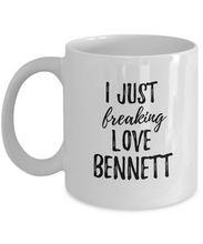 Load image into Gallery viewer, I Just Freaking Love Bennett Mug Funny Gift Idea For Custom Name Coffee Tea Cup-Coffee Mug