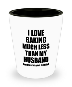 Baking Wife Shot Glass Funny Valentine Gift Idea For My Spouse From Husband I Love Liquor Lover Alcohol 1.5 oz Shotglass-Shot Glass