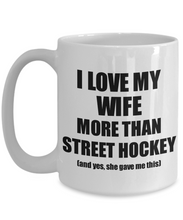 Load image into Gallery viewer, Street Hockey Husband Mug Funny Valentine Gift Idea For My Hubby Lover From Wife Coffee Tea Cup-Coffee Mug