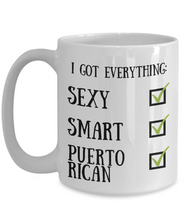Load image into Gallery viewer, Puerto Rican Coffee Mug Rico Pride Sexy Smart Funny Gift for Humor Novelty Ceramic Tea Cup-Coffee Mug