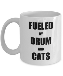 Cat Drummer Mug Funny Gift Idea for Novelty Gag Coffee Tea Cup-Coffee Mug