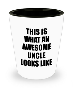 Awesome Uncle Shot Glass Funny Gift Idea For My Tio Looks Like Novelty Gag Liquor Lover Alcohol 1.5 oz Shotglass-Shot Glass
