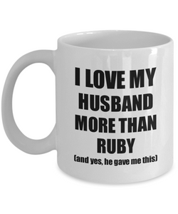 Ruby Wife Mug Funny Valentine Gift Idea For My Spouse Lover From Husband Coffee Tea Cup-Coffee Mug