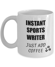 Load image into Gallery viewer, Sports Writer Mug Instant Just Add Coffee Funny Gift Idea for Corworker Present Workplace Joke Office Tea Cup-Coffee Mug