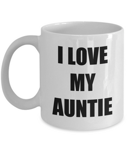 I Love My Auntie Mug Funny Gift Idea Novelty Gag Coffee Tea Cup-Coffee Mug