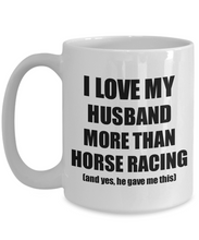 Load image into Gallery viewer, Horse Racing Wife Mug Funny Valentine Gift Idea For My Spouse Lover From Husband Coffee Tea Cup-Coffee Mug