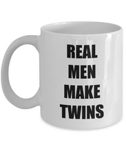 Load image into Gallery viewer, Twin Dad Mug Real Men Make Twins Funny Gift Idea for Novelty Gag Coffee Tea Cup-Coffee Mug