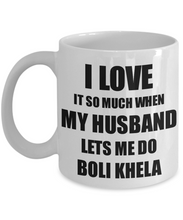Load image into Gallery viewer, Boli Khela Mug Funny Gift Idea For Wife I Love It When My Husband Lets Me Novelty Gag Sport Lover Joke Coffee Tea Cup-Coffee Mug