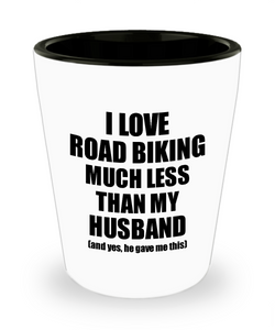 Road Biking Wife Shot Glass Funny Valentine Gift Idea For My Spouse From Husband I Love Liquor Lover Alcohol 1.5 oz Shotglass-Shot Glass