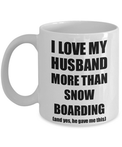 Snow Boarding Wife Mug Funny Valentine Gift Idea For My Spouse Lover From Husband Coffee Tea Cup-Coffee Mug