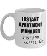 Load image into Gallery viewer, Apartment Manager Mug Instant Just Add Coffee Funny Gift Idea for Corworker Present Workplace Joke Office Tea Cup-Coffee Mug