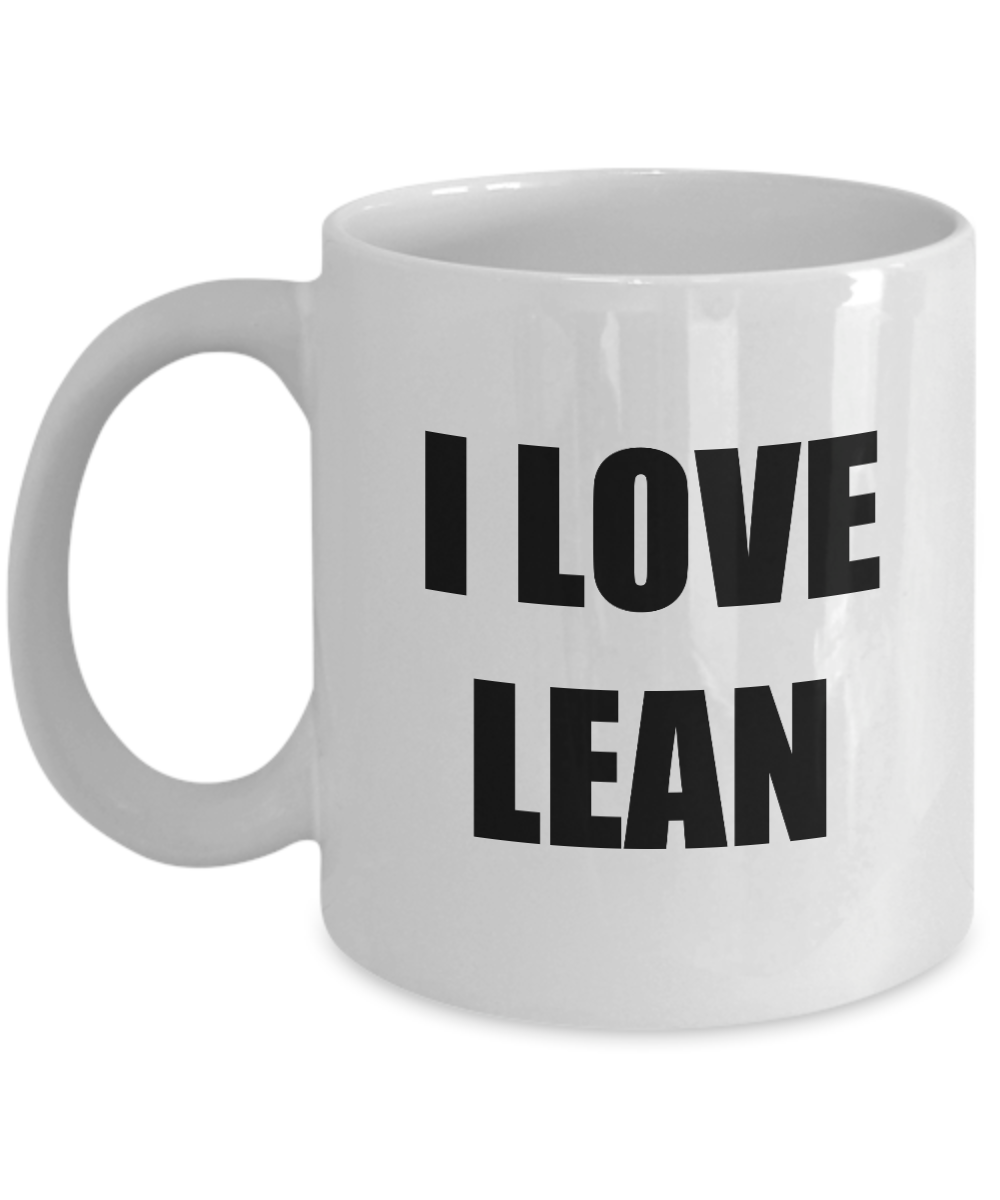 I Love Lean Mug Funny Gift Idea Novelty Gag Coffee Tea Cup-[style]