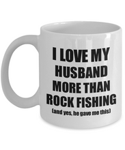 Load image into Gallery viewer, Rock Fishing Wife Mug Funny Valentine Gift Idea For My Spouse Lover From Husband Coffee Tea Cup-Coffee Mug
