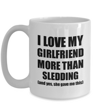 Load image into Gallery viewer, Sledding Boyfriend Mug Funny Valentine Gift Idea For My Bf Lover From Girlfriend Coffee Tea Cup-Coffee Mug