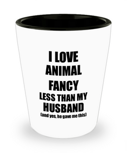 Animal Fancy Wife Shot Glass Funny Valentine Gift Idea For My Spouse From Husband I Love Liquor Lover Alcohol 1.5 oz Shotglass-Shot Glass