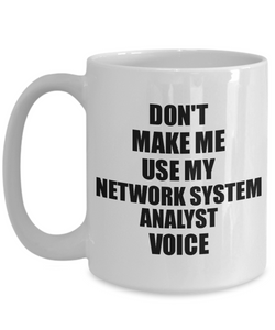 Network System Analyst Mug Coworker Gift Idea Funny Gag For Job Coffee Tea Cup Voice-Coffee Mug