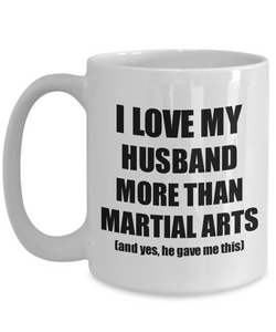 Martial Arts Wife Mug Funny Valentine Gift Idea For My Spouse Lover From Husband Coffee Tea Cup-Coffee Mug