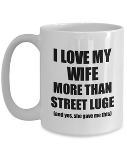 Street Luge Husband Mug Funny Valentine Gift Idea For My Hubby Lover From Wife Coffee Tea Cup-Coffee Mug