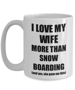 Snow Boarding Husband Mug Funny Valentine Gift Idea For My Hubby Lover From Wife Coffee Tea Cup-Coffee Mug